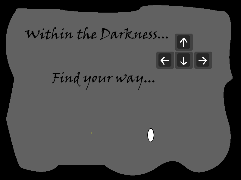 The title screen from Within the Darkness.